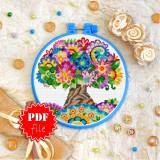 Cross stitch pattern «pdf-T-0213 Wish Tree»
