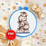 Cross stitch pattern «pdf-T-0224 Funny Hamsters»