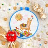 Cross stitch pattern «pdf-T-0257 Funny Llama»