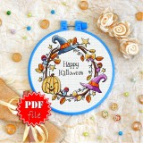 Cross stitch pattern «pdf-T-0268 Happy Halloween»
