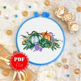 Cross stitch pattern «pdf-T-0279 Two Pumpkins»