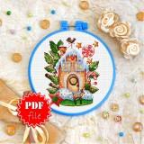 Cross stitch pattern «pdf-T-0302 Gingerbread House»