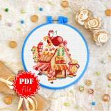 Cross stitch pattern «pdf-T-0337 Candy House»