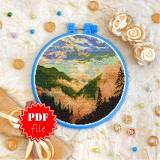 Cross stitch pattern «pdf-T-0398 Smoky Mountains Mist»