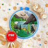Cross stitch pattern «pdf-T-0428 Glacier Park»