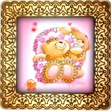 Magnet bead embroidery kit «M-0007 Teddy Bear Love»