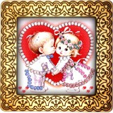 Magnet bead embroidery kit «M-0017 First Kiss»
