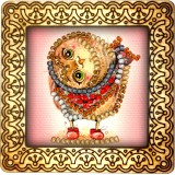 Magnet bead embroidery kit «M-0027 Owlet»