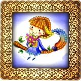 Magnet bead embroidery kit «M-0067 Pirate Missy»