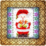 Magnet bead embroidery kit «M-0077 Kitty Santa»