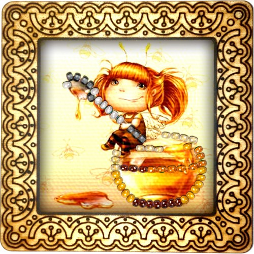 Magnet bead embroidery kit «M-0107 Honey Holiday»