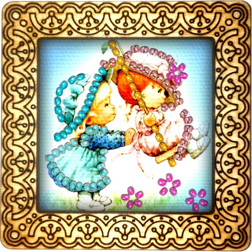 Magnet bead embroidery kit «M-0127 A Push on the Swing»