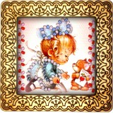 Magnet bead embroidery kit «M-0137 Cute and Sweet»