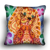 Pillow cross stitch kit «H-0014 Curious Cocker»