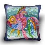 Pillow cross stitch kit «H-0024 Kooky Koi»