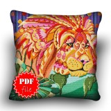 Pillow Cross stitch pattern «pdf-H-0010 Leo the Lion»