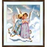 Bead embroidery kit «A-0060 Angel Love»