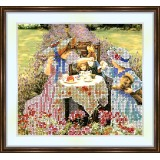 Bead embroidery kit «A-0070 Summer Tea Party»