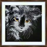Bead embroidery kit «A-0140 Cat Exploration»