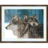 Bead embroidery kit «A-0210 Wolves in Winter»