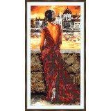 Bead embroidery kit «A-0301 Woman in the Gown»