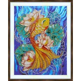 Bead embroidery kit «A-0321 Gold Fish»