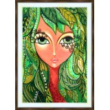 Bead embroidery kit «A-0331 Flowing Tresses 2»