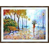 Bead embroidery kit «A-0341 Strolling in the Park»