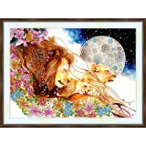 Bead embroidery kit «A-0391 The Lion Family»