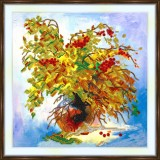 Bead embroidery kit «A-0441 Autumn Bouquet»