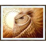 Bead embroidery kit «A-0451 Moonlit Owl»