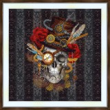 Bead embroidery kit «A-0475 Steam Punk Skull»