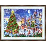 Bead embroidery kit «A-0495 Night Before Christmas»