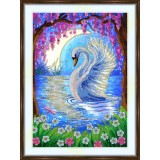 Bead embroidery kit «A-0505 Moonlit Swan»