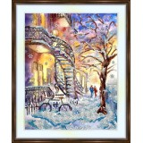 Bead embroidery kit «A-0515 Winter in the City»