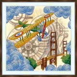 Bead embroidery kit «A-0528 Airplane»