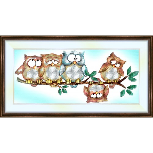Bead embroidery kit «K-0029 Odd Owl Out»