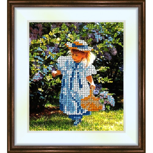 Bead embroidery kit «K-0039 Her Adventure»