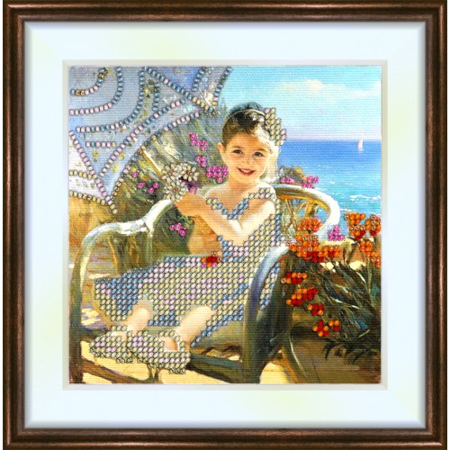 Bead embroidery kit «K-0059 Spring Day at the Lake»