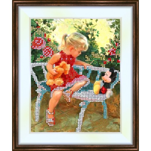 Bead embroidery kit «K-0089 Conversation with Friends»