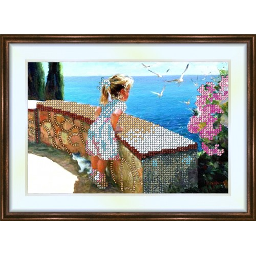Bead embroidery kit «K-0099 Watching the Seagulls»