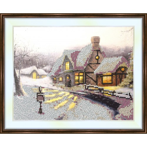 Bead embroidery kit «K-0129 Winter Eve»