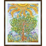 Bead embroidery kit «K-0170 Tree of Life Under the Sun»