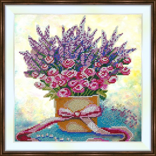 Bead embroidery kit «K-0190 Spring Bouquet»
