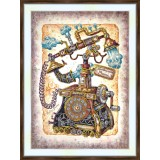 Bead embroidery kit «K-0220 Steampunk Phone»