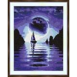 Cross stitch kit «S-0006 Sailboat in the Night»