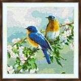 Cross stitch kit «S-0027 Birds on a Branch»