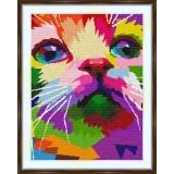 Cross stitch kit «S-0047 Colorful Cat»