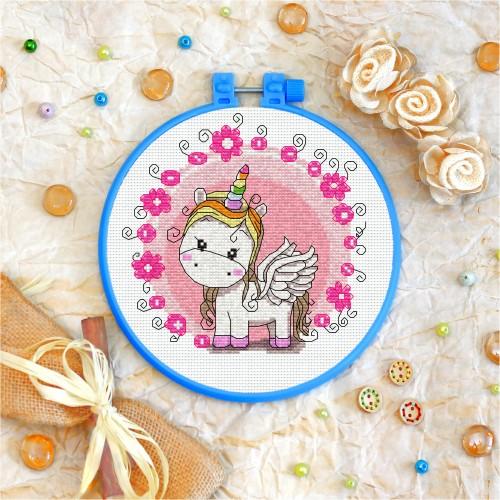 Cross stitch kit «T-0015 Toy Unicorn»