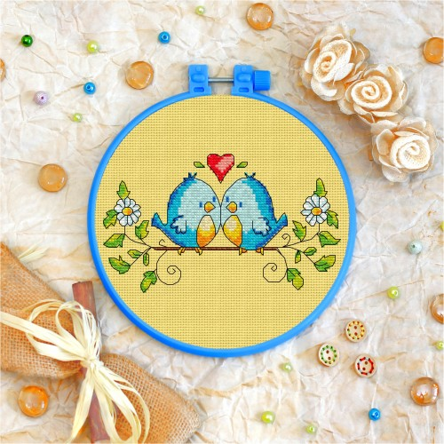 Cross stitch kit «T-0025 The Love Birds»